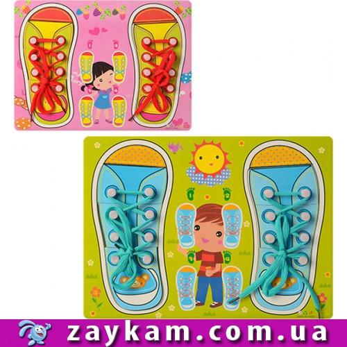 Деревянная игрушка Шнуровка Кеды M00956