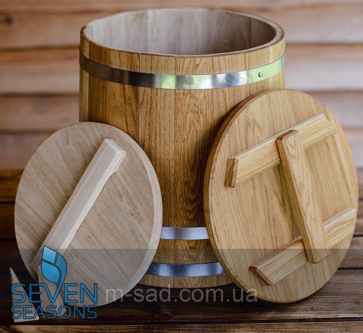 Кадка дубовая конусная для соления Seven Seasons™, 60 литров