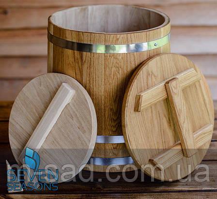 Кадка дубовая конусная для соления Seven Seasons™, 60 литров, фото 2