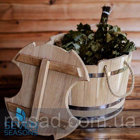 Запарник для веников дубовый Seven Seasons™, 35 литров, фото 2