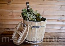 Запарник для веников дубовый Seven Seasons™ Expert с оцинкованной вставкой, 15 литров, фото 2