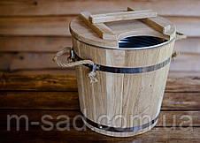 Запарник для веников дубовый Seven Seasons™ Expert с оцинкованной вставкой, 15 литров, фото 3