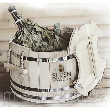 Запарник для веников дубовый Seven Seasons™ Expert, 30 литров, фото 2