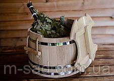 Запарник для веников дубовый Seven Seasons™ Expert, 30 литров, фото 3