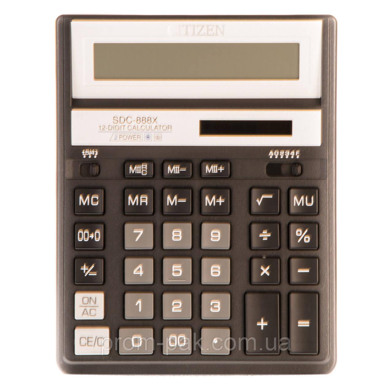 Калькулятор настольный citizen  Cit SDС-888 кольоровий