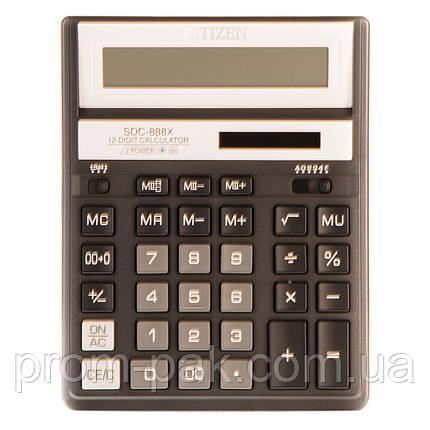Калькулятор настольный citizen  Cit SDС-888 кольоровий, фото 2