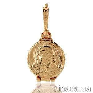 Золотая ладанка-мощевик Божия Матерь 6770