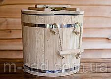 Запарник для веников дубовый Seven Seasons™ Expert с оцинкованной вставкой, 25 литров, фото 3