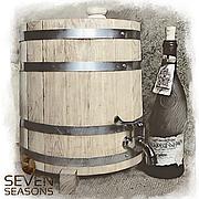 Жбан дубовый вертикальный (бочка) для напитков Seven Seasons™, 5 литров, Пластик