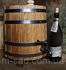 Жбан дубовый вертикальный (бочка) для напитков Seven Seasons™, 15 литров, Пластик, фото 2