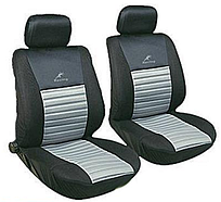 Авточехлы с подогревом Milex Arctic на передние сидения черно-серые