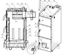Котел на твердом топливе Проскуров АОТВ-22Н кВт, фото 3