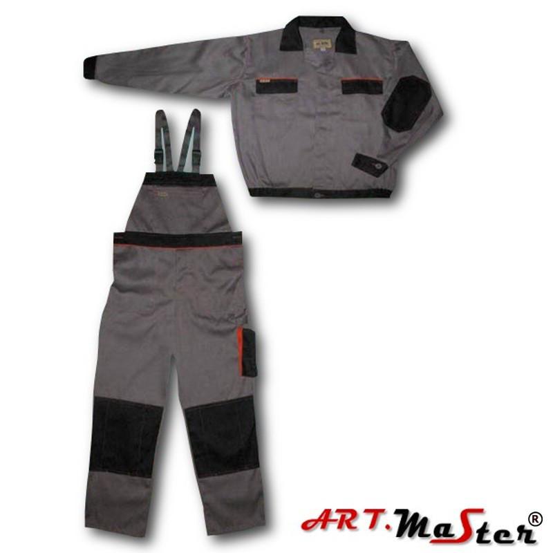 Профессиональная рабочая одежда ARTMAS серого цвета Ubrania rob ART.M stalowo-czar