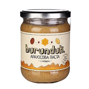"""Арахисовая паста с медом """"Бурундук"""" 450г"""
