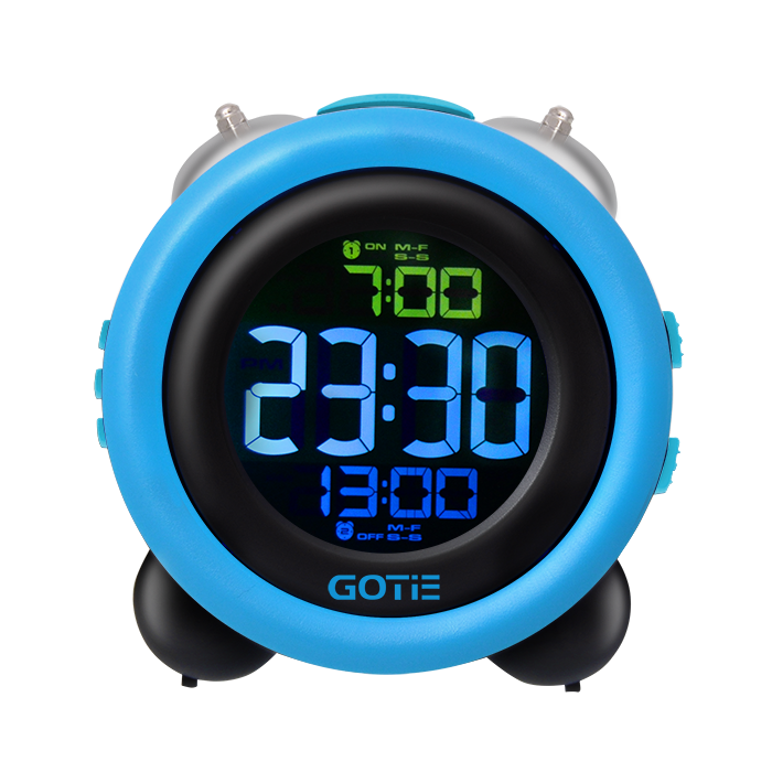 Электронный будильник GOTIE GBE-300R (синий)