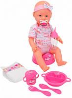 Кукла-пупс девочка с аксессуарами, 43 см, New Born Baby (503 9005)