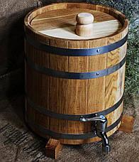 Вертикальный дубовый жбан (бочка) для напитков Seven Seasons™, 20 литров, Пластик, фото 3