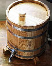 Жбан дубовый (бочка) вертикальный для напитков Seven Seasons™, 50 литров, Пластик, фото 3