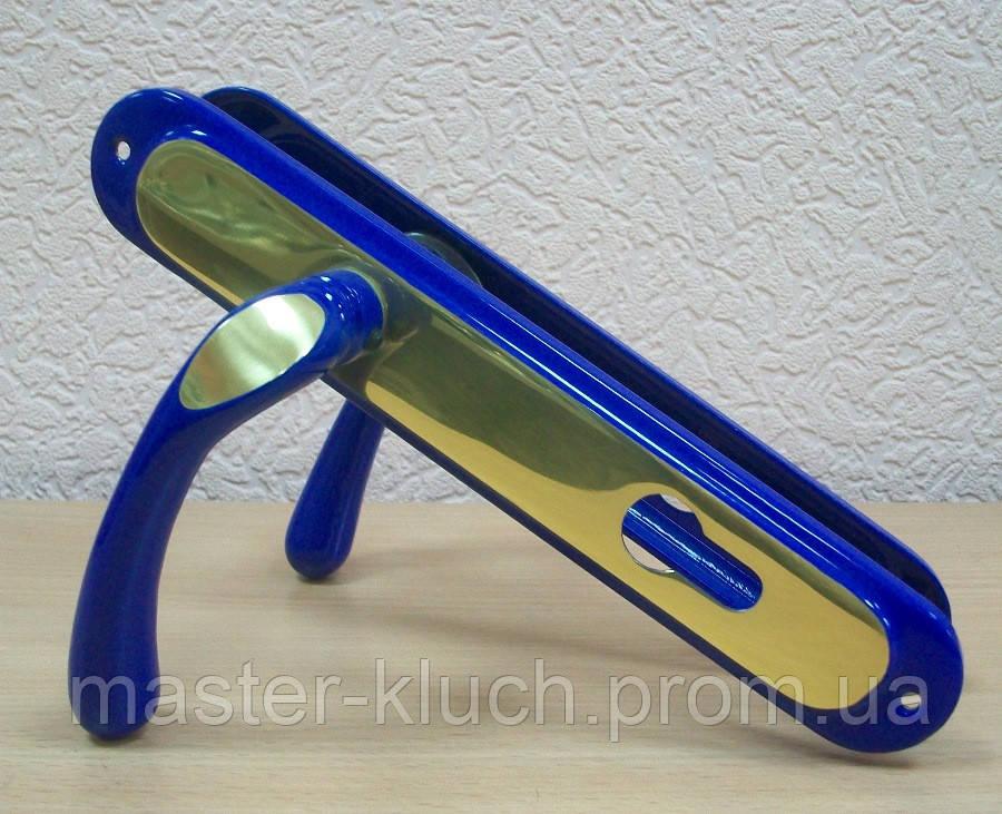 Дверные ручки Doganlar ECO Kumru  Y-85 синий/золото