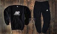 Теплый мужской спортивный костюм New Balance черного цвета