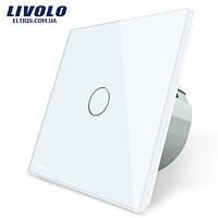 Сенсорный выключатель Livolo, цвет белый