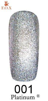 Гель-лак F.O.X Platinum 001 (серебристый), 6 ml