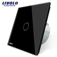 Сенсорный выключатель Livolo, цвет чёрный