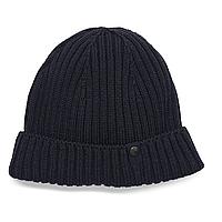 Оригінальна в'язана шерстяна шапка BMW Knitted Beanie Dark Blue (80162454624)