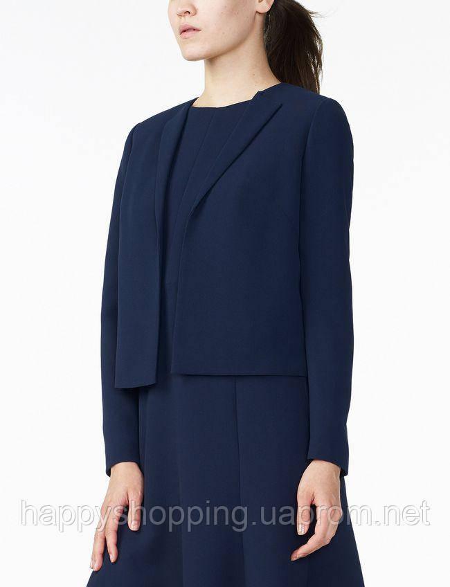 Женский оригинальный стильный укороченный темно-синий пиджак  популярного бренда Armani Exchange