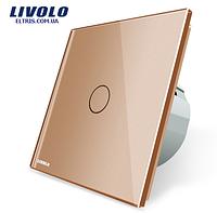 Сенсорный выключатель Livolo, цвет золотой