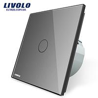 Сенсорный выключатель Livolo, цвет серый