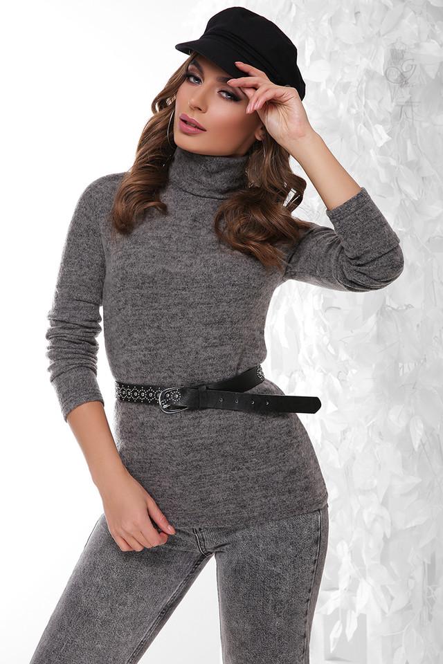Цвет серый Гольфа женского ангорового Вива