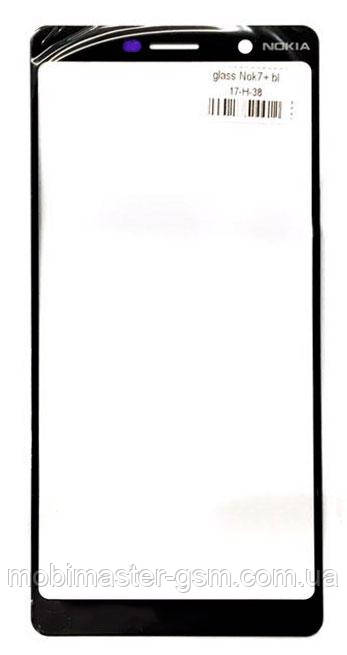 Корпусное стекло Nokia 7 Plus Dual Sim (TA-1046) черное