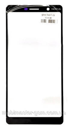 Корпусное стекло Nokia 7 Plus Dual Sim (TA-1046) черное, фото 2