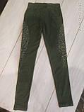 Лосины джегенцы 6-14 лет синие, фото 2