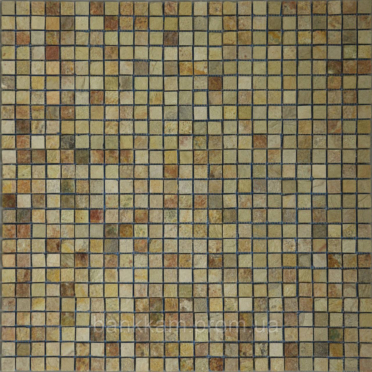 Мозаїка Кварцит квадратики (уп. 0,5 кв.м.)