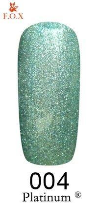 Гель-лак F.O.X Platinum 004 (зелёный), 6 ml