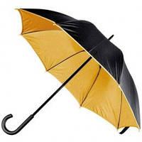 Коричнево-черный зонт-трость, двухцветный, 5 цветов, с нанесением логотипов, для рекламы, фото 1