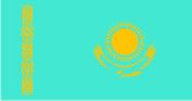 Флажок Казахстана шелк, 10х20см
