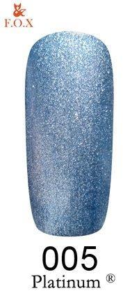 Гель-лак F.O.X Platinum 005 (синий), 6 ml