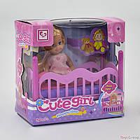 Кукла с кроваткой К 899-27 (96) в коробке