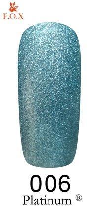 Гель-лак F.O.X Platinum 006 (бирюзовый), 6 ml