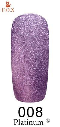 Гель-лак F.O.X Platinum 008 (фиолетовый), 6 ml