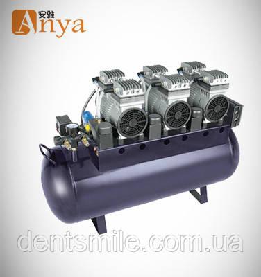 Компрессор стоматологический с горизонтальным ресивером ND-300 для четырех и пяти установок
