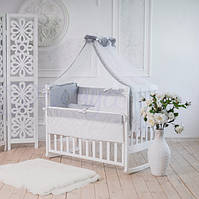 Детский постельный комплект Family Kingdom серый