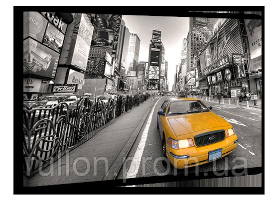 """Картина на холсте YS-Art XP139 """"Желтые такси 7, Таймс-сквер, Нью-Йорк"""" 50x70"""