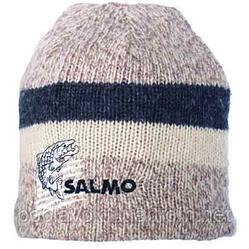 Шапка шерстяная с плюшевой подкладкой Salmo бежевая L