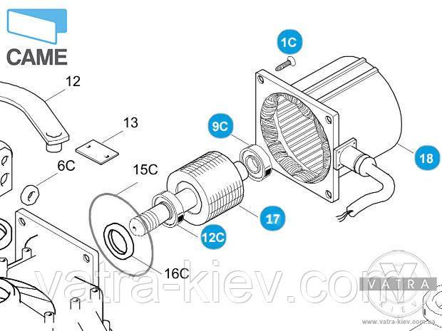 мотор автоматики Came Frog 119ria061купить цена