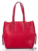 Итальянская кожаная сумка женская Amelie Pelletteria красная 8657