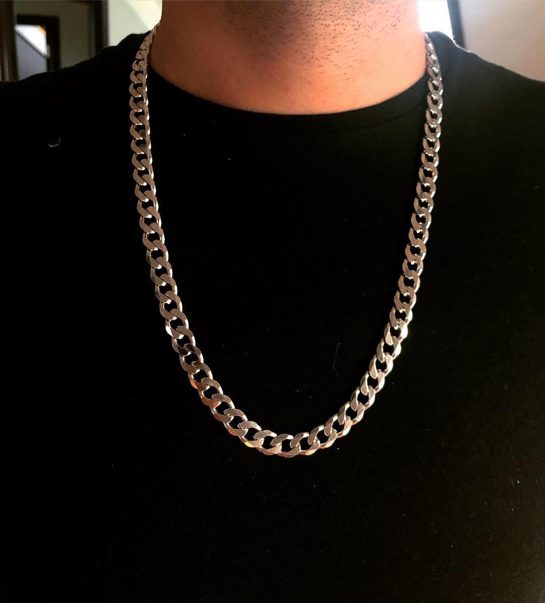 Мужская цепь из серебра Мої Прикраси  65 см панцирное плетение 125 грамм